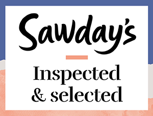 Sawdays inspected and selected